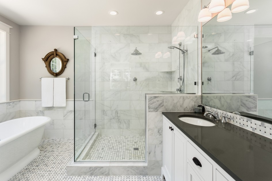 bathroom remodel- shower doors